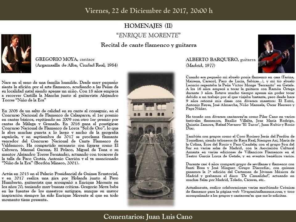Homenajes (II) Enrique Morente