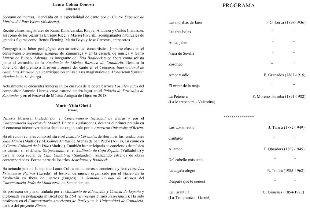 Programa Casa de Granada 3.12