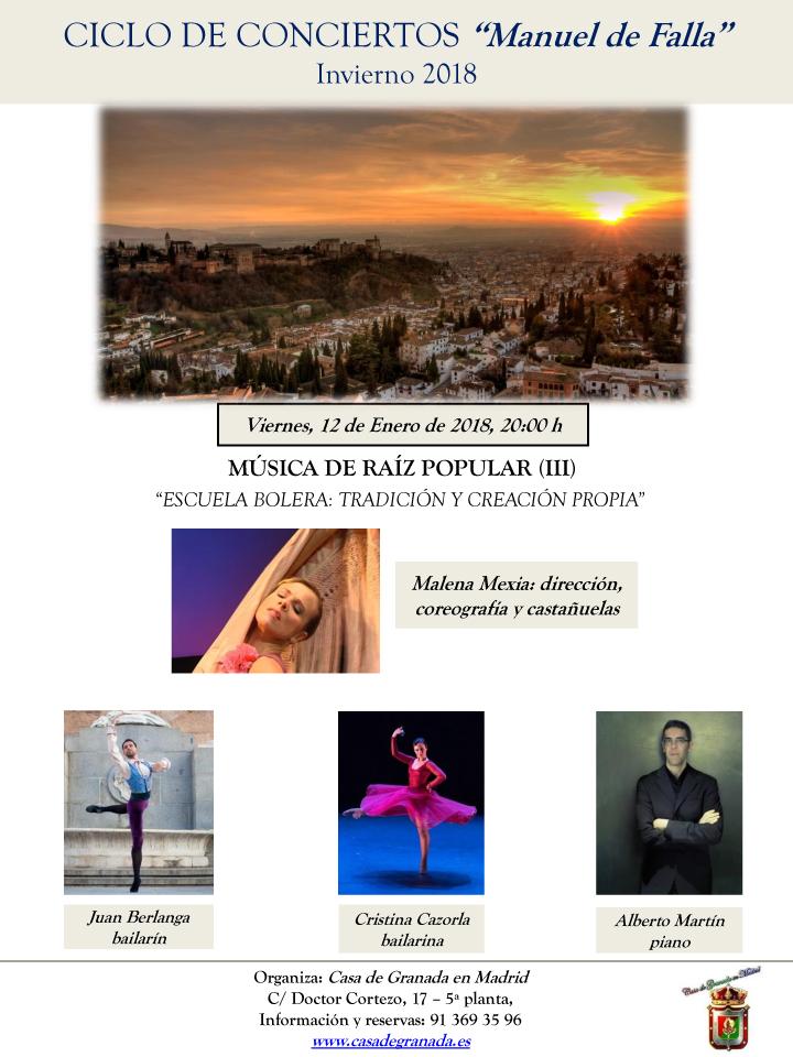CARTEL concierto 12 de Enero 2018