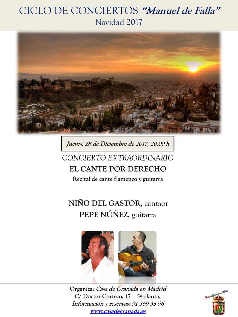 CARTEL concierto 28 de Diciembre 2017