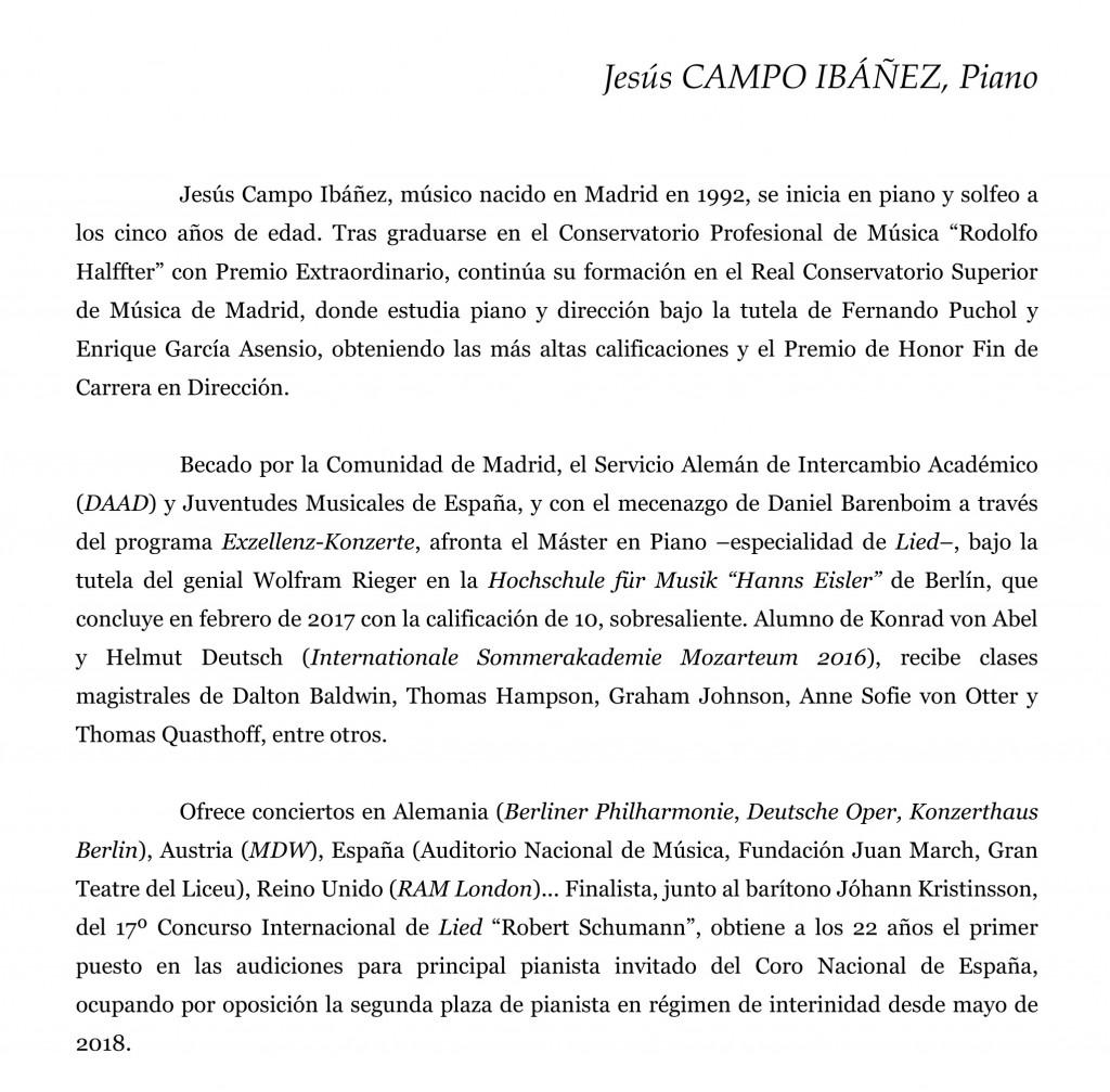 (Microsoft Word - CAMPO IBÁÑEZ, Jesús · BIOGRAFÍA BREVE · Progra