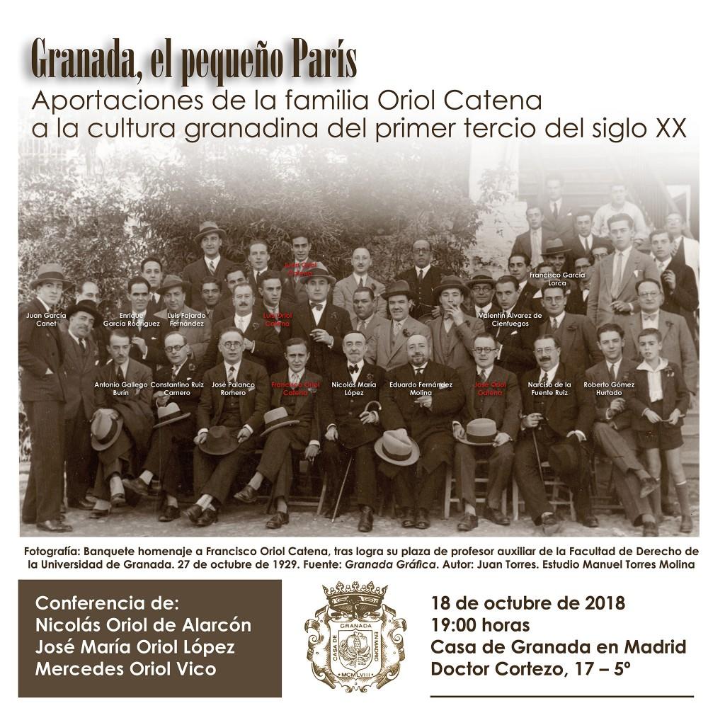 Cartel conferencia C asa de Granada 18-10-2018 C